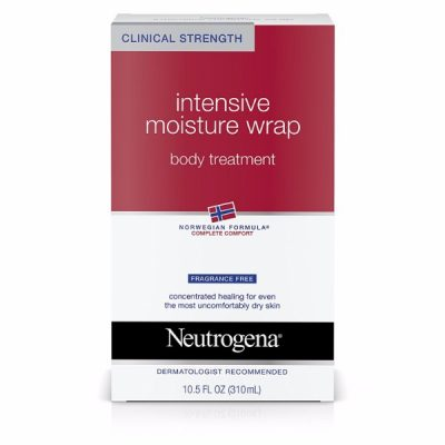 Neutrogena Intense Moisture Wrap Body Treatment; Norwegian Formula for Relieving Dryness; Hydrates the Skin Deeply