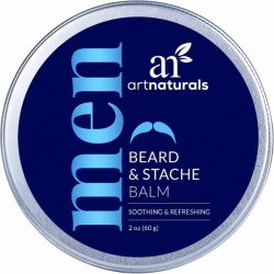 Art Naturals Beard and Mustache Balm; Manage Beards Easier; Hydrates Facial Hair for Smoother Touch