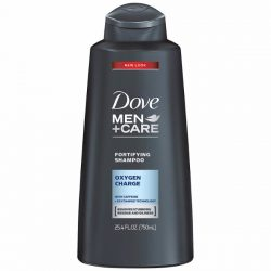Dove Men+Care Shampoo; With Oxygen Charge Technology; Purifies Hair and Scalp; Improves Hair Strength and Thickness