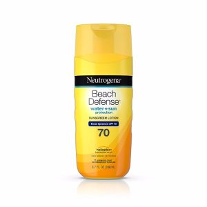 Neutrogena Beach Defense Sunscreen Lotion; With Broad Spectrum SPF70 for Maximum Protection; Moisturizes Skin