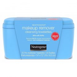 Neutrogena Makeup Remover Cleansing Towelettes; Soft Pre-Moistened Clothes; Leaves the Skin Clear and Smooth