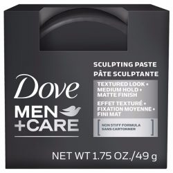 Dove Men+Care Sculpting Paste; With a Matte Finish; Non-Stiff Formula