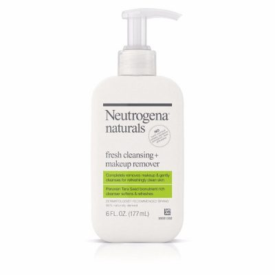 Neutrogena Fresh Cleansing + Makeup Remover; Gentle Formula for Sensitive Skin; Package Comes With Two Packs