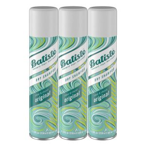 Batiste Dry Shampoo Original Fragrance; Leaves Hair Fresh and Bouncy; Absorbs Grease and Dirt