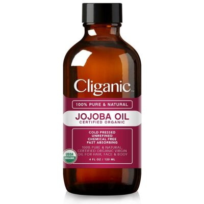 Cliganic Organic Jojoba Oil; For Skin and Hair Moisturizing; Safe and Gentle on All Skin Types