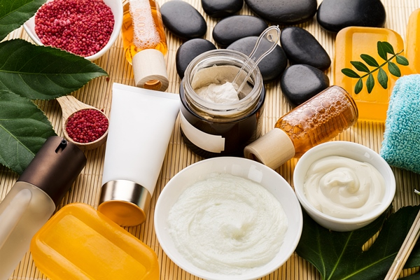 Various products for skin care.