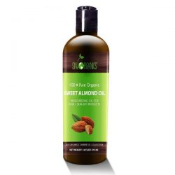 Sky Organics Sweet Almond Oil; Soothes and Hydrates Skin; Conditions Hair for Long-Lasting Moisture