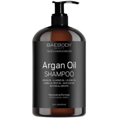 Baebody Moroccan Argan Oil Shampoo; Gives Hair Extra Volume and Shine; Gentle on Curly & Color-Treated Hair