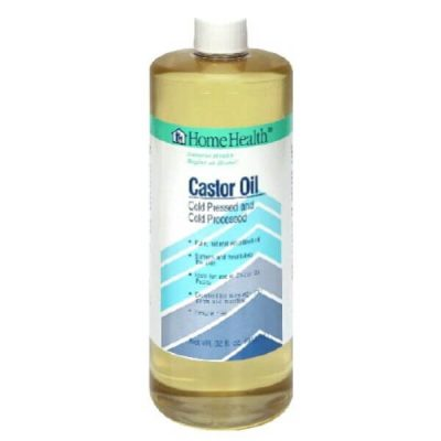 Home Health Cold-Pressed Castor Oil; For Soft and Supple Skin; Soothes Muscles and Joints
