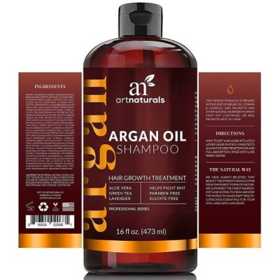 Art Naturals Moroccan Argan Oil Hair Loss Shampoo & Conditioner Set; Sulfate-Free; Treats Hair Loss and Thinning Hair