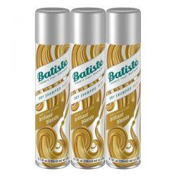 Batiste Brilliant Blonde Dry Shampoo; Gives Hair Extra Texture and Volume; No Rinse Shampoo