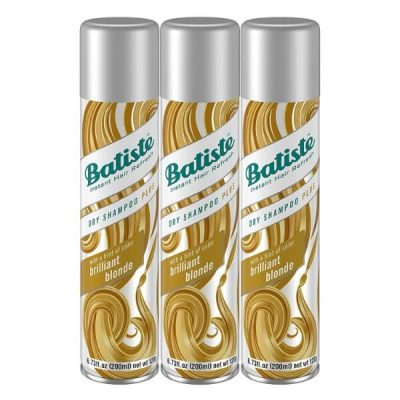 Batiste Brilliant Blonde Dry Shampoo; Gives Hair Extra Texture and Volume; No Rinse Shampoo