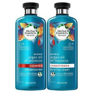 Herbal Essences Biorenew Argan Oil of Morocco Shampoo and Conditioner Bundle; For Dry and Damaged Hair; Color-Safe Formulas