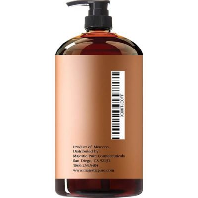 Majestic Pure Argan Oil Shampoo; Vitamin Enriched Formula; Restores Hair Health and Shine