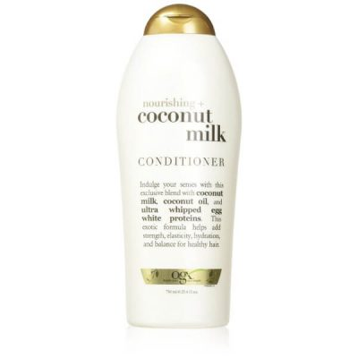 OGX Coconut Milk Nourishing Conditioner; For Softer and Smoother Hair; Improves Hair Strength and Elasticity