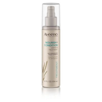 Aveeno Nourish+Condition Leave-In Treatment; Restores Hair Strength and Shine; For Dry and Damaged Hair