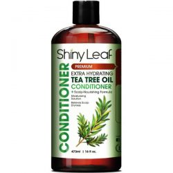 Shiny Leaf Tea Tree Oil Conditioner; Fights Dandruff and Head Lice; Soothes Itchy and Irritated Scalp