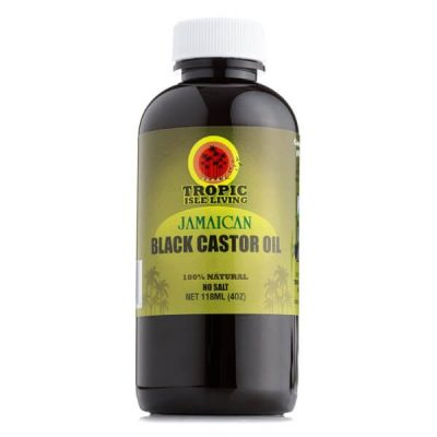 Tropic Isle Living Jamaican Black Castor Oil 4 OZ; Supports Healthy Hair Growth; Relieves Dryness of Skin