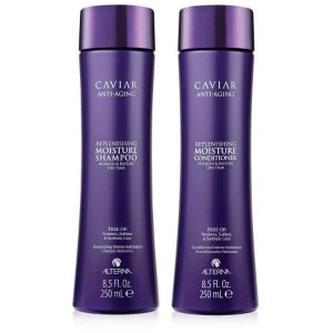 Alterna Caviar Replenishing Moisture Shampoo and Conditioner Set; Moisturizes Dry Hair; Leaves Hair Softer and Smoother
