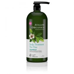 Avalon Organics Scalp Treatment Tea Tree Shampoo; Soothes Scalp Irritation and Itchiness; Leaves Hair Softer and Smoother