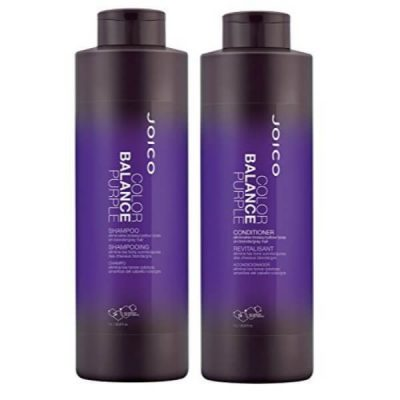Joico Color Balance Purple Shampoo and Conditioner Duo; Corrects Hair Tone and Color; Fights Frizziness and Dryness