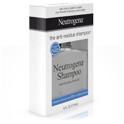 Neutrogena Anti-Residue Shampoo; Clarifying Shampoo for Healthier Hair; Deeply Cleanses Hair and Scalp