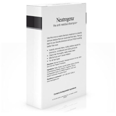 Neutrogena Anti-Residue Shampoo; Clarifying Shampoo for Healthier Hair; Deeply Cleanses Hair and Scalp