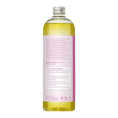 Pure Body Naturals Cold Pressed Castor Oil; USDA Organic Pure Oil; For Skin, Hair, Eyebrows & Eyelashes