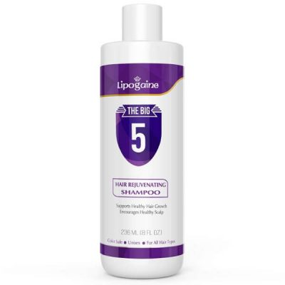 Lipogaine Hair Growth Stimulating All Natural Shampoo; Prevents Thinning and Hair Breakage; With A Powerful Blend of Organic Ingredients