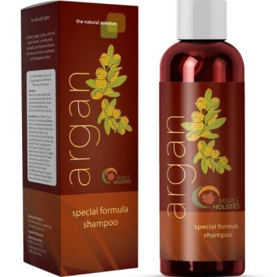 Maple Holistics Argan Oil Shampoo; Repairs and Strengthens Hair; Nourishes Hair and Scalp
